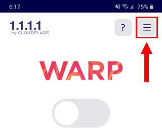 1.1.1.1 app menu button