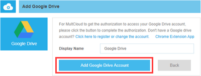 add cloud storage service account to multcloud