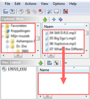 add files or folders to disc in infrarecorder