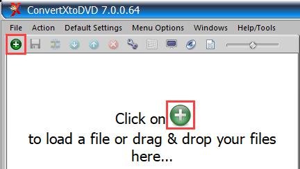 Add video files button ConvertXtoDVD