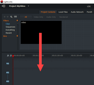 add video to project in lightworks
