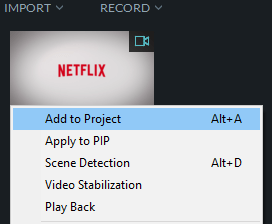 add video to project in wondershare filmora