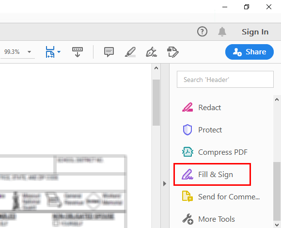 Adobe Acrobat Reader DC Fill & Sign
