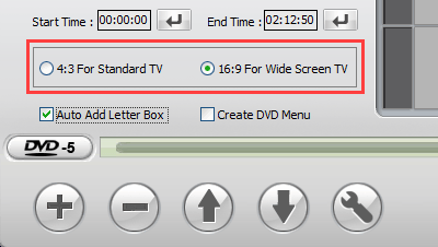 Aspect ratio setting in WinX DVD Author