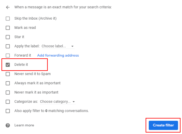 Block Google Forms spam on Gmail
