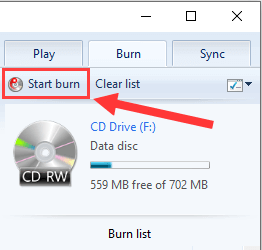 Burn an MP3 CD using Windows Media Player