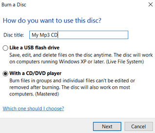 Burn CD or DVD Windows 10 Image 2