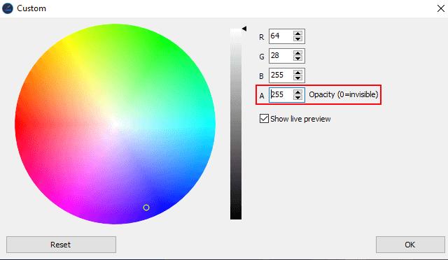 Change the color of only the taskbar in Windows 10 using Ashampoo Taskbar Customizer