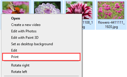 Combine multiple images into one PDF in Windows 10