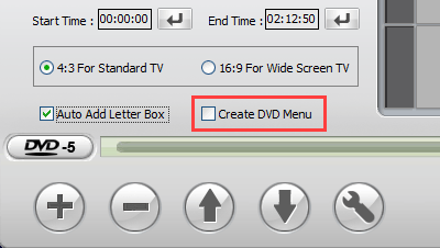 Create DVD Menu option in WinX DVD Author