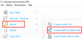 create mp3 disc using ashampoo burning studio free