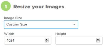 Custom size option for images on imageresize.org