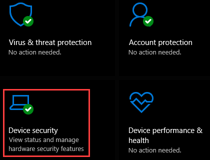 Device security in Windows 10