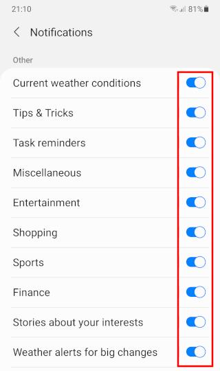 Disable Google News notifications