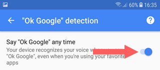 disable ok google detection