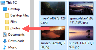 drag the resized pictures from windows temp folder to new folder