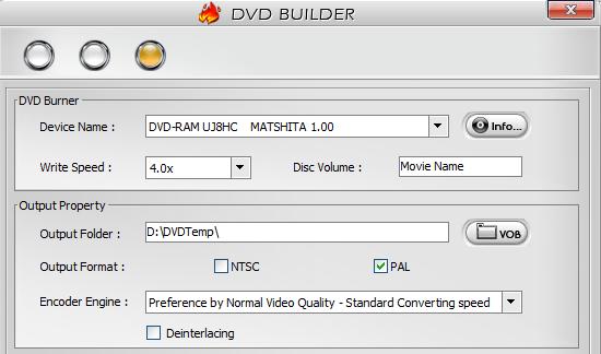DVD Builder in WinX DVD Author
