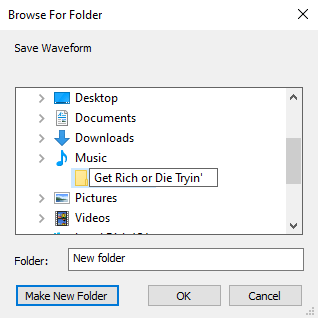 EAC browse for folder window
