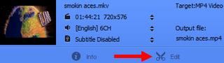 edit video in WinX HD Video Converter Deluxe