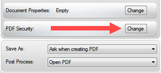 enable pdf security in primopdf