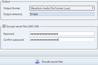 encode files using deepsound