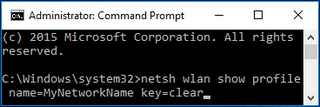 Find Information about WiFi Network with Windows Command Prompt