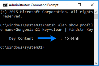 Find Wi-Fi Password of your Current Network with Windows Command Prompt
