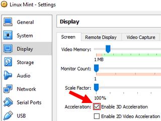 Fix Linux Mint & VirtualBox Video Hardware Acceleration Problem 2