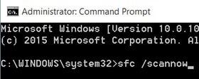 Fix Windows 10 Start Menu with System File Checker tool