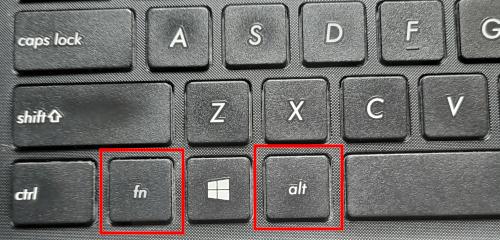 FN and ALT keyboard keys