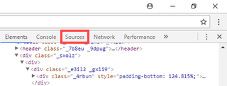 google chrome sources