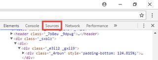 google chrome sources