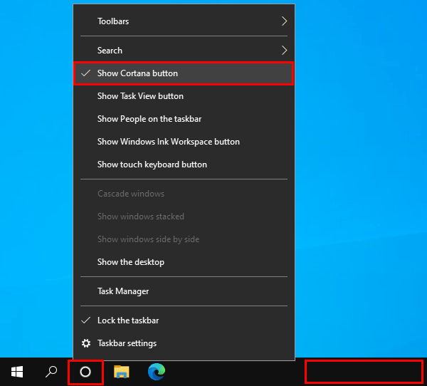 How to remove Cortana from the taskbar in Windows 10