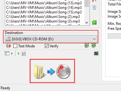 ImgBurn Build button