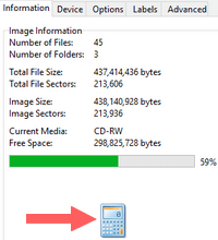 imgburn calculate image size option