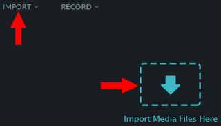 import video in wondershare video editor
