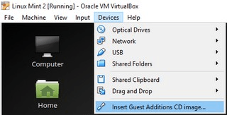 install guest additions in linux mint in virtualbox 1