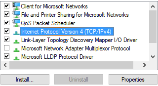 Internet Protocol Version 4 (TCP/IPv4) Properties