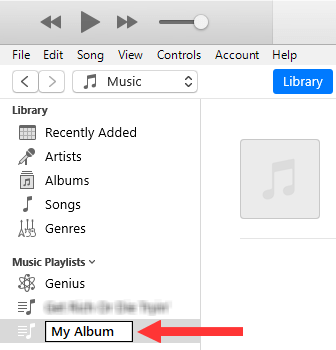 iTunes album name