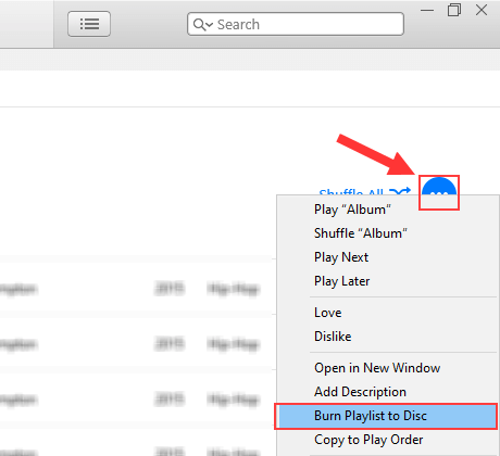 iTunes burn playlist to disc
