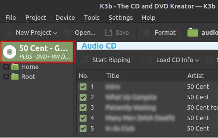 K3b Audio CD