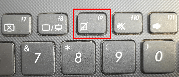 Keyboard shortcut to disable the touchpad on an ASUS laptop