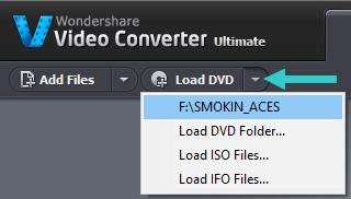 load DVD in Wondershare Video Converter Ultimate