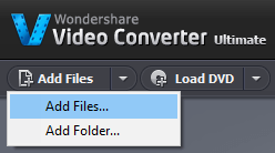 load video in Wondershare Video Converter Ultimate