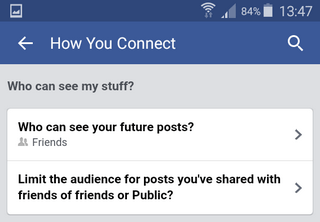 make facebook mobile uploads album private on android smartphones
