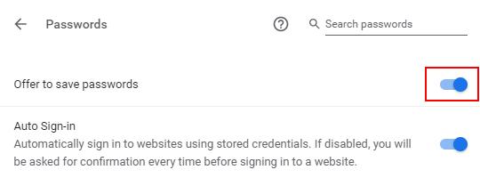 Make Google Chrome stop asking to save passwords