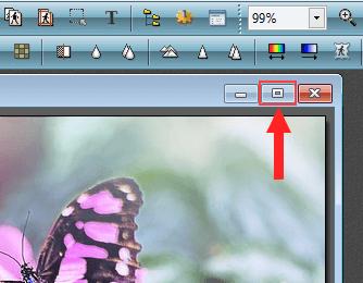 Maximize photo window in PhotoFiltre
