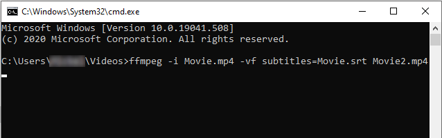 Merge subtitles with an MP4 video using FFmpeg