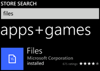 Microsoft Files App