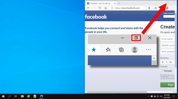 Minimize browser window